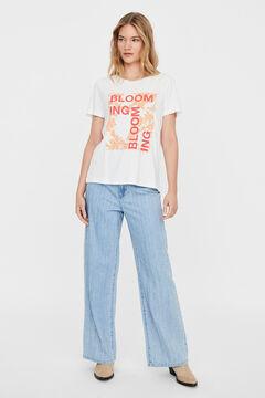Cortefiel Printed t-shirt Lilac