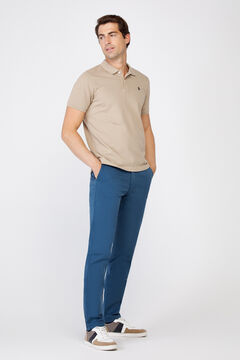 Cortefiel Essential slim fit lightweight chinos Royal blue