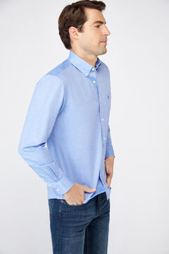 Cortefiel Plain organic cotton Oxford shirt Stone