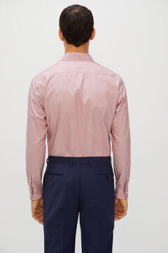 Cortefiel Plain tailored fit dress shirt Fuchsia