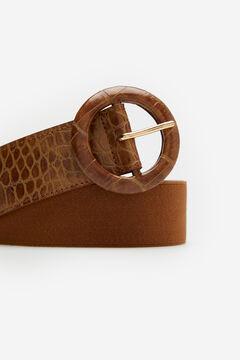 Cortefiel Cinturón ancho elástico Marrón