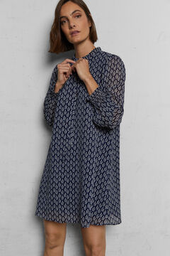 Cortefiel Printed tunic dress Natural