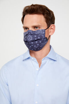 Cortefiel Printed face mask  Navy