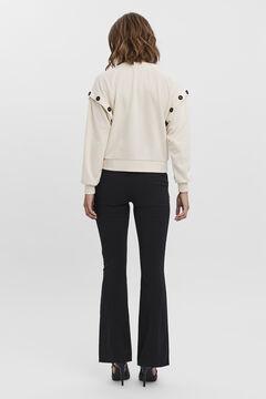 Cortefiel Buttons detail sweatshirt Stone