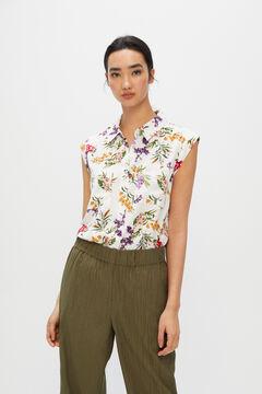Cortefiel Safari shirt Ecru