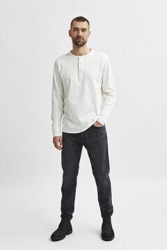 Cortefiel Men's long sleeve t-shirt White