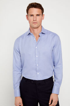 Cortefiel Classic textured dress shirt Turquoise