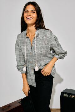 Cortefiel Checked shirt Gray