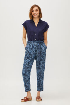 Cortefiel Flowing color trousers 100% Lyocell Natural