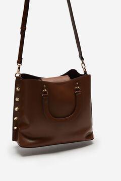 Cortefiel Eyelets shopper bag Camel