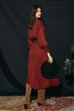 Cortefiel Printed dress Beige