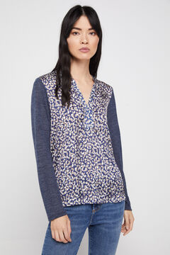 Cortefiel Combined soft feel top Navy