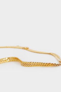 Cortefiel Golden steel chain necklace Beige