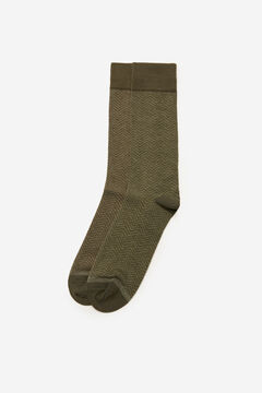 Cortefiel Herringbone socks Dark gray
