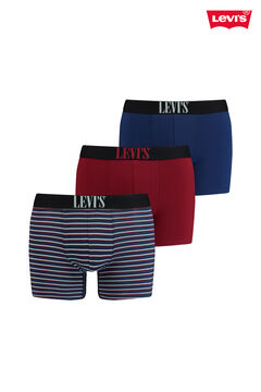 Cortefiel Caja regalo pack 3 bóxers Levi's® con rayas Azul