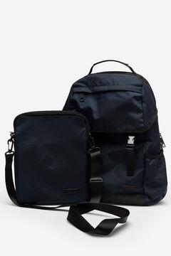 Cortefiel Nylon urban backpack Navy