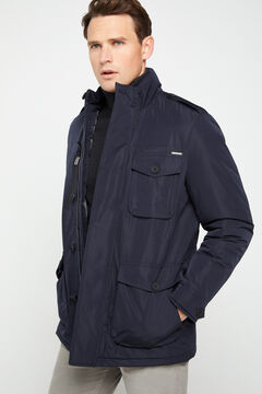 Cortefiel Technical four-pocket parka Navy