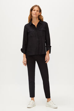 Cortefiel Skinny trousers Black