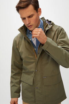 Cortefiel Parka with removable hood Green