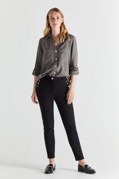 Cortefiel Skinny trousers Black