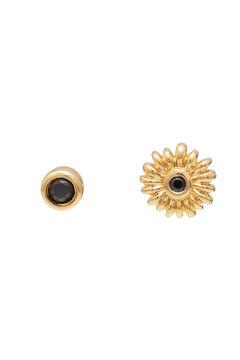 Cortefiel CIAM mini piercing - Black - Gold Beige