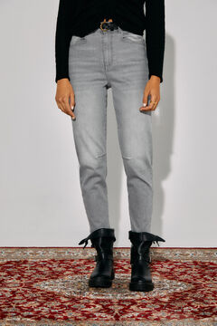 Cortefiel Slouchy fit jeans Gray