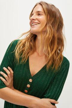 Cortefiel Short-sleeved jumper Pistachiogreen