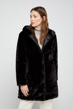 Cortefiel Long reversible coat Black