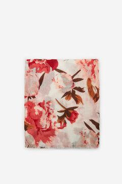 Cortefiel Floral print cosy scarf Pink