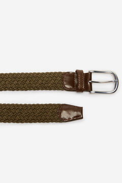 Cortefiel Woven fabric belt Dark gray