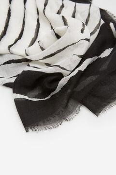 Cortefiel Fular fino estampado rayas Negro