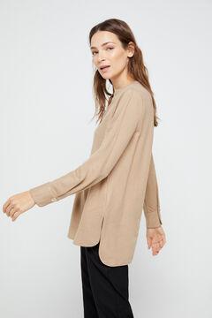 Cortefiel Long-sleeved comfort blouse Brown