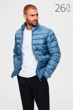 Cortefiel Sustainable quilted jacket Royal blue