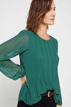 Cortefiel Pleated top Green