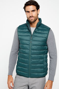 Cortefiel Ultralight quilted vest with Thermolite eco Dark green