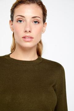 Cortefiel Crew neck sweater Green