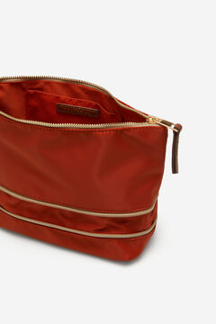 Cortefiel Extendable vanity case with two zips Red