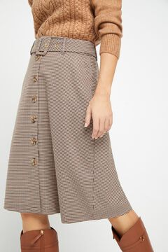 Cortefiel Skirt with belt Kaki