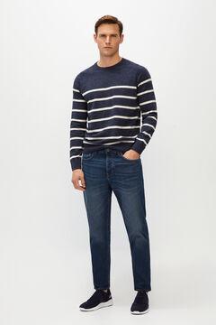 Cortefiel Modern fit dark wash jeans Royal blue