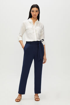 Cortefiel Fluid trousers Turquoise