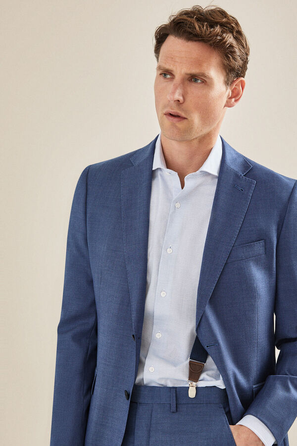 3abc3e535 Cortefiel Americana traje azul grisáceo tailored fit Azul