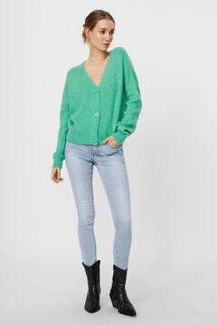 Cortefiel Knit cardigan Pistachiogreen