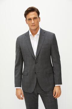 Cortefiel Americana de traje cruadros tailored fit Gris