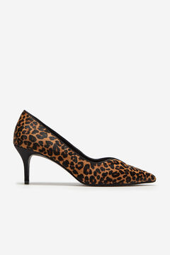 Cortefiel Leopard skin print leather shoes Printed
