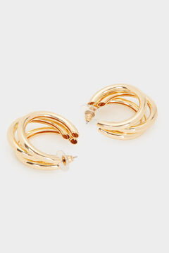 Cortefiel Medium Hoop Fever earrings Beige