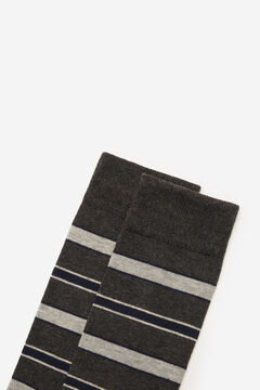 Cortefiel Multistripe socks Gray