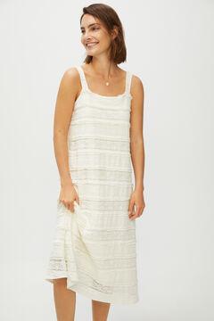 Cortefiel Strappy lace dress White