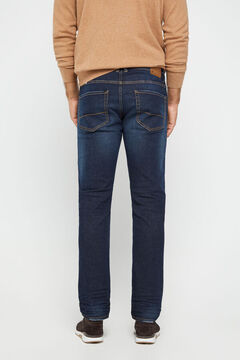 Cortefiel Slim fit dark wash jeans Royal blue