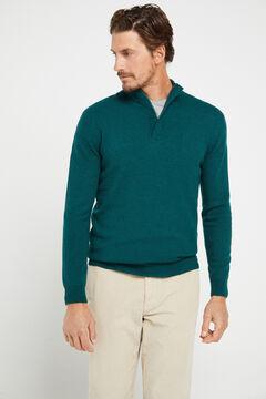 Cortefiel Turtleneck jumper Dark green