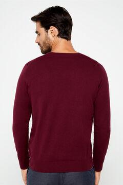 Cortefiel V-neck jumper Fuchsia